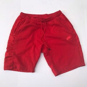 Red infrared Nike Shorts with zip pockets